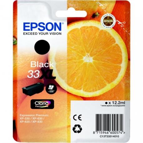 Epson 33 XL Noir Orange - T3351 - Cartouche jet d'encre d'origine