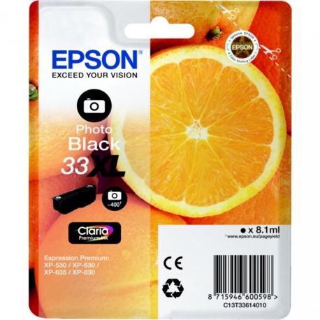 Epson 33 XL Noir Photo Orange T3361 - Cartouche jet d'encre d'origine