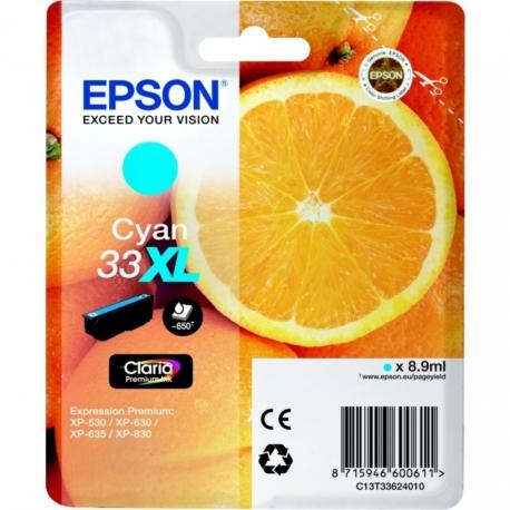 Epson 33 XL Cyan Orange - T3362 - Cartouche jet d'encre d'origine