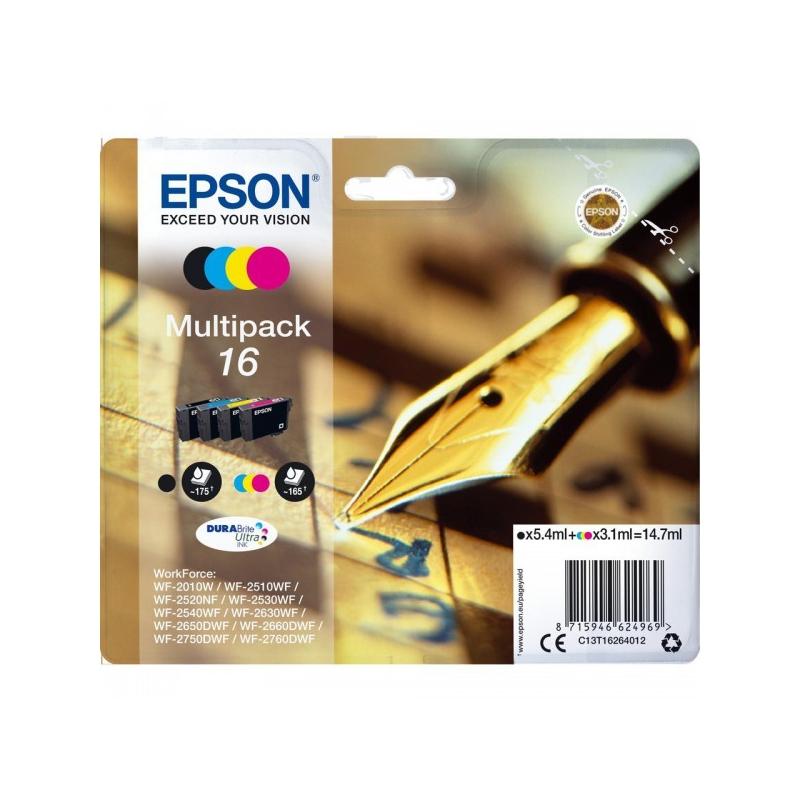 epson multipack 16 stylo 4 cartouches jet d 39 encre d 39 origine selecteo. Black Bedroom Furniture Sets. Home Design Ideas