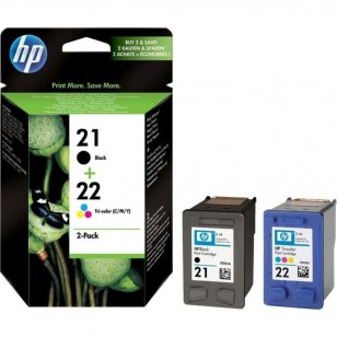 HP Pack 21/22 - SD367AE - 2 Cartouches jet d'encre d'origine