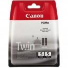 Canon Pack PGI-5BK Noir x2 - 2 Cartouches jet d'encre d'origine