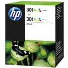 HP Pack 301 XL Couleur x2 - 2 Cartouches jet d'encre d'origine