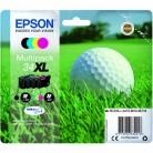 Epson Pack 34 XL Balle de golf - 4 Cartouches jet d'encre d'origine