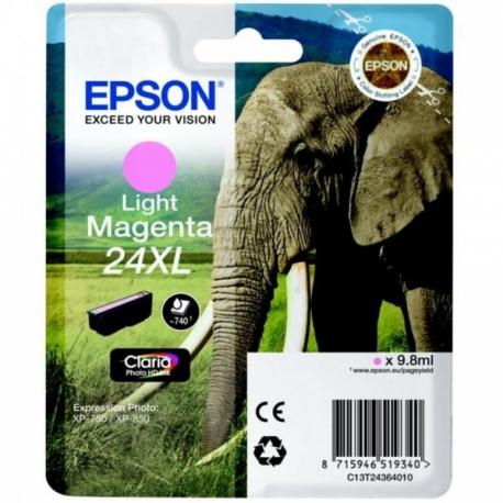 Epson 24 XL Magenta Clair Eléphant - Cartouche jet d'encre d'origine