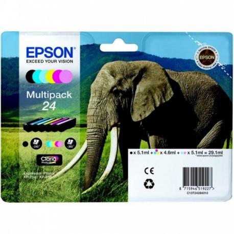 Epson Multipack 24 Eléphant - 6 Cartouches jet d'encre d'origine