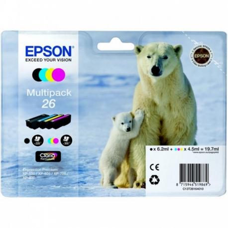 Epson Multipack 26 Ours Polaire - 4 Cartouches jet d'encre d'origine