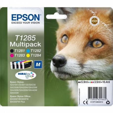 Epson Multipack T1285 Renard - 4 cartouches jet d'encre d'origine