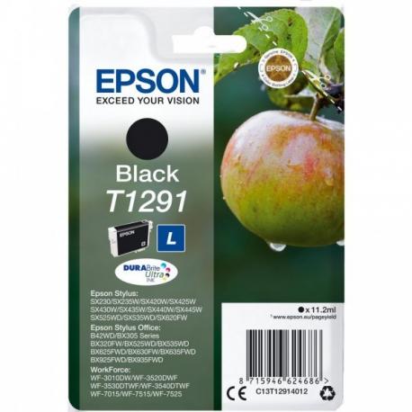 Epson T1291 Noir Pomme - Cartouche jet d'encre d'origine