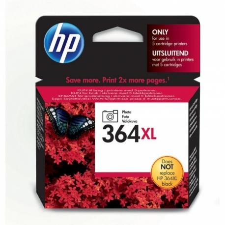 HP N°364XL Noir Photo - CB322EE - Cartouche jet d'encre d'origine