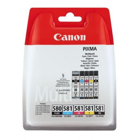 Canon Multipack PGI-580/CLI-581 - 5 Cartouches jet d'encre d'origine