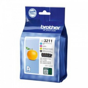 Brother Pack LC3211 - 4 Cartouches jet d'encre d'origine