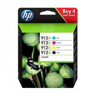 HP Pack 912 XL - 3YP34AE - 4 Cartouches jet d'encre d'origine