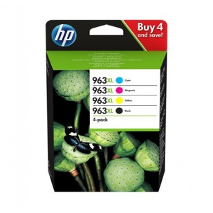 HP Pack 963 XL - 3YP35AE - 4 Cartouches jet d'encre d'origine