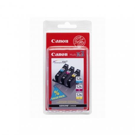 Canon Multipack CLI-526 - 3 Cartouches jet d'encre d'origine