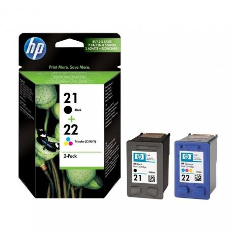 HP Pack N°21/22 - SD367AE - 2 Cartouches jet d'encre d'origine