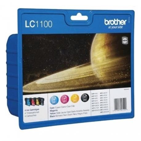 Brother Value Pack LC1100 - 4 Cartouches jet d'encre d'origine