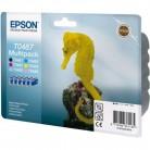 Epson Multipack T0487 Hippocampe - 6 Cartouches jet d'encre d'origine
