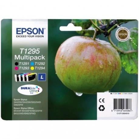 Epson Multipack T1295 Pomme - 4 Cartouches jet d'encre d'origine