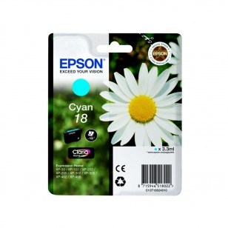 Epson N°18 Cyan - Cartouche jet d'encre d'origine
