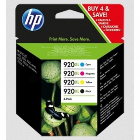 HP Pack N°920XL - C2N92AE - 4 Cartouches jet d'encre d'origine