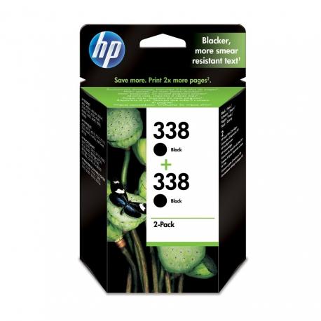HP Pack N°338 x2 Noir - CB331EE - 2 Cartouches jet d'encre d'origine