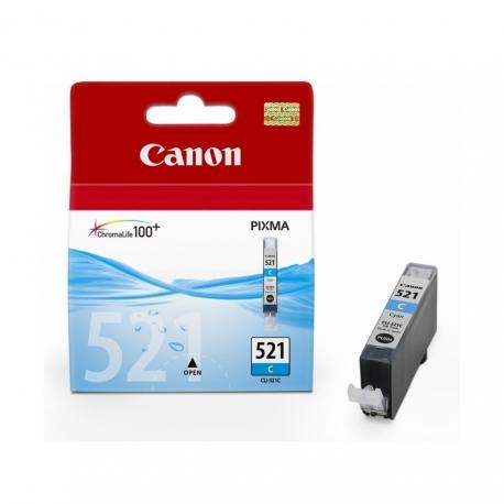 Canon CLI-521C Cyan - Cartouche jet d'encre d'origine
