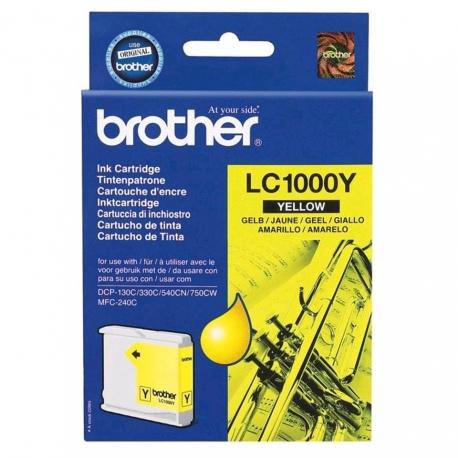 Brother LC1000Y Jaune - Cartouche jet d'encre d'origine