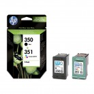 HP Pack N°350/351 - SD412EE - 2 Cartouches jet d'encre d'origine
