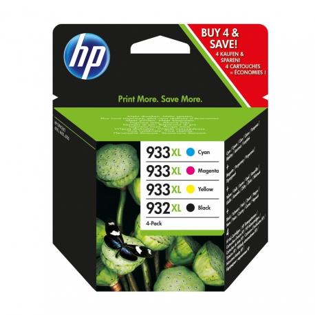 HP Pack N°932XL/933XL - C2P42AE - 4 Cartouches jet d'encre d'origine