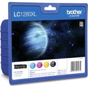 Brother Value Pack LC1280XL - 4 Cartouches jet d'encre d'origine