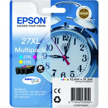 Epson Multipack N°27XL Réveil - 3 Cartouches jet d'encre d'origine