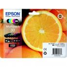 Epson Multipack N°33 Orange - 5 Cartouches jet d'encre d'origine