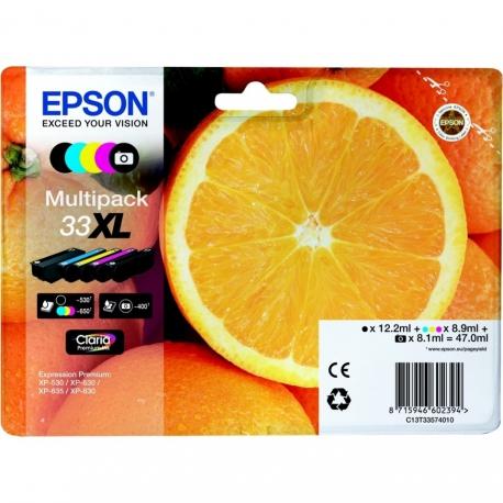 Epson Multipack N°33XL Orange - 5 Cartouches jet d'encre d'origine