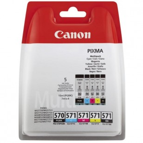 Canon Multipack PGI-570/CLI-571 - 5 Cartouches jet d'encre d'origine