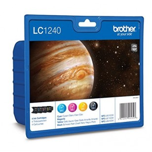 Brother Value Pack LC1240 - 4 Cartouches jet d'encre d'origine
