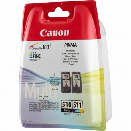 Canon Pack PG-510/CL-511 - 2 Cartouches jet d'encre d'origine