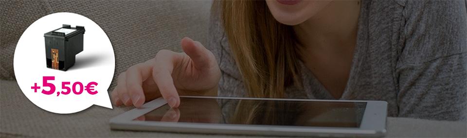 utilisatrice de selecteo sur tablette